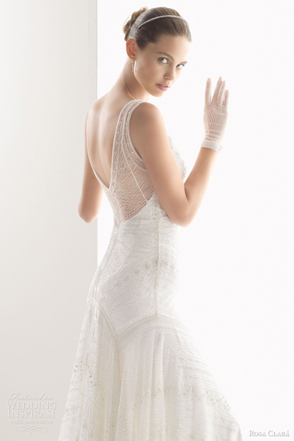 rosa clara bridal 2014 copla beaded sleeveless sheath gown