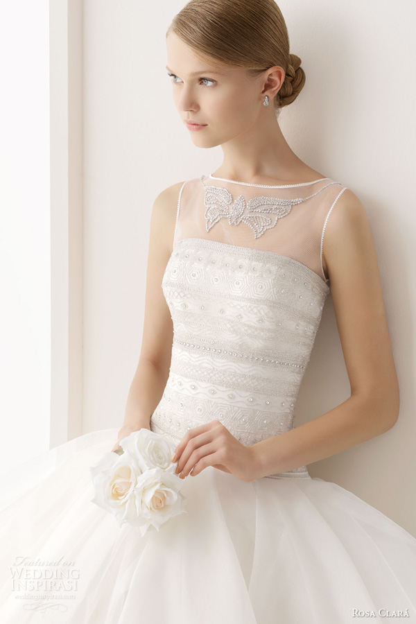 rosa clara 2014 cesar beaded bodice ball gown wedding dress